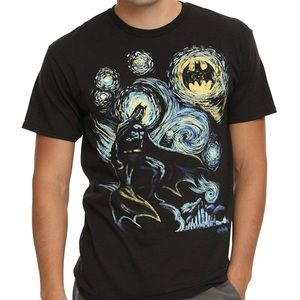 DC Comics Batman Starry Night Black T-Shirt
